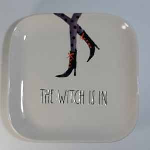 Rae Dunn Dining - Rae Dunn the witch is in square plates 7""